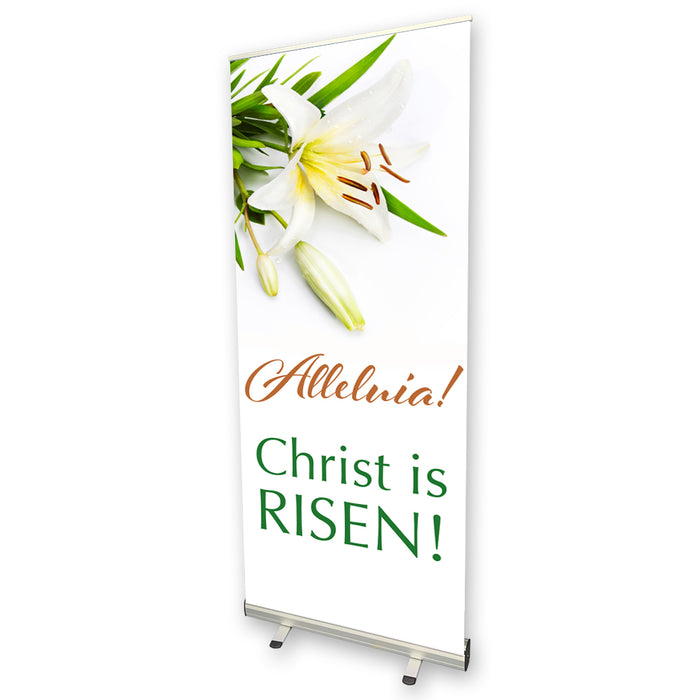 Jesus Is Risen Pull Up Banner