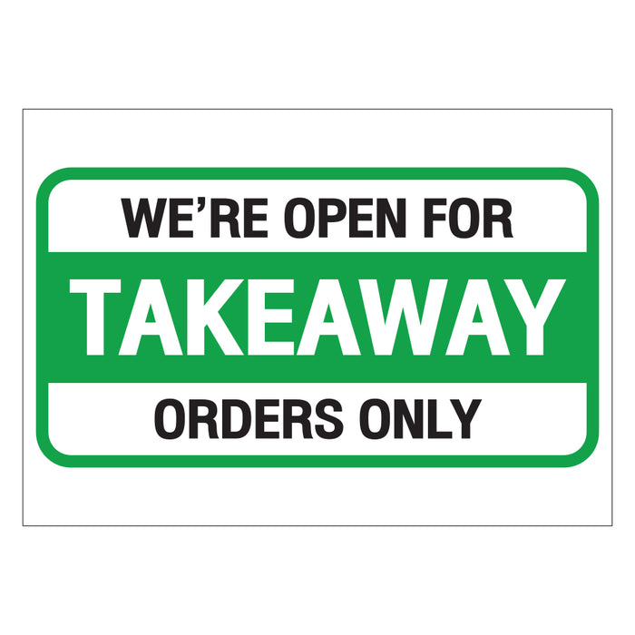 Takeaway Orders Only