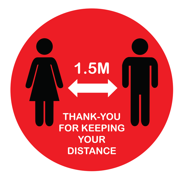 Thanks for Keeping Your Distance Floor Sticker 250 x 250mm
