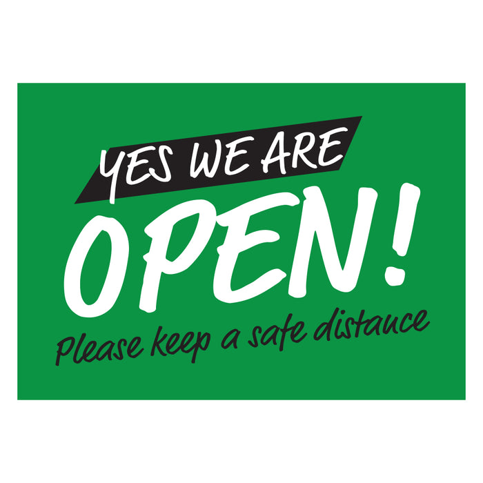 Yes! We're Open Green