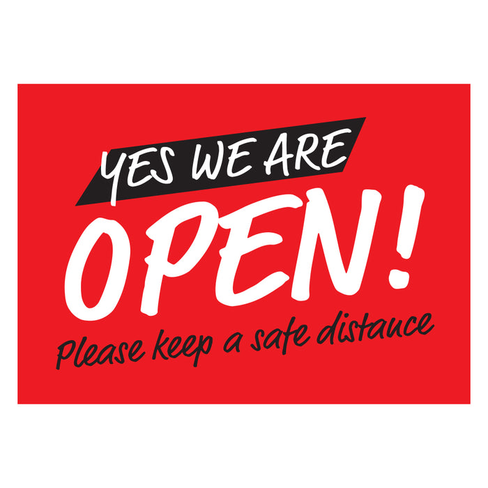 Yes! We're Open Red