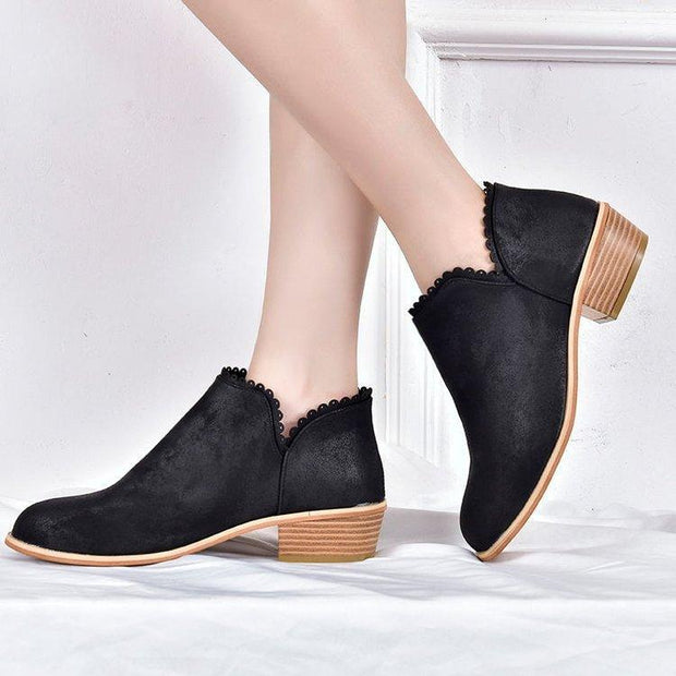 Women Casual Classic Ankle Round Toe Boots