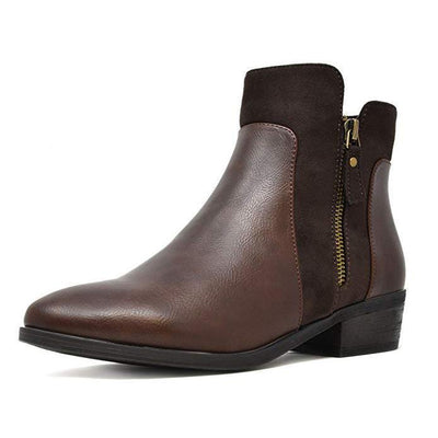 113713 Women's Harrot Faux Leather Chelsea Ankle Booties