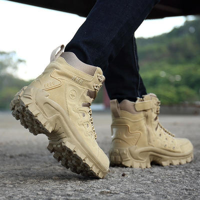Men Military Leather Tactical Desert Snow Boots
