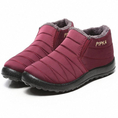 Women's Waterproof Soft Sole Slip On Warm Casual Winter Snow Ankle Boots