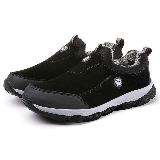 Men's Winter Warm Shoes Faux Fur Walking Cotton-padded Shoes