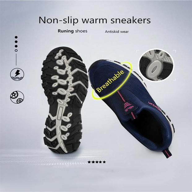 Women Winter Warm Sneakers Comfortable Flat Shoes