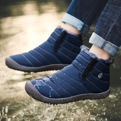 Women Waterproof Rubber Wedge Platform Winter Ankle Snow Boots