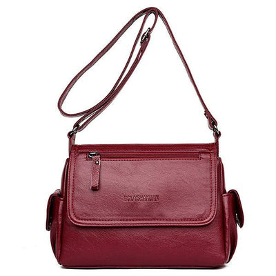 Women Large Capacity PU Leather Casual Crossbody Bag
