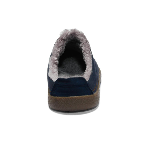 Ladies Casual Warm Non-slip Half-strap Plush Shoes Cotton Slippers