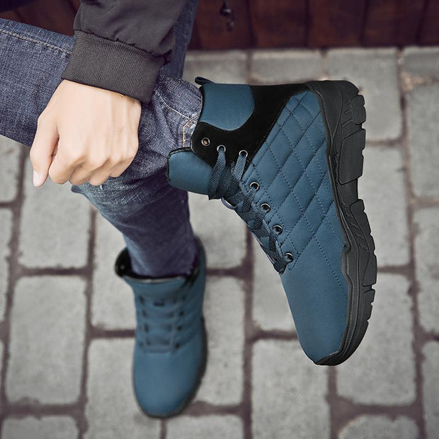 Men's Lace-up Anti-slip Warm Snow Boots