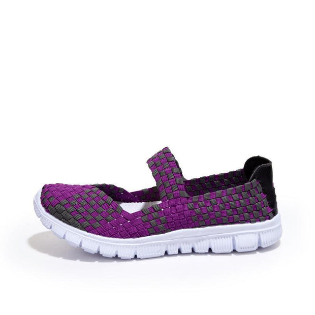 Women's Knitted Nylon Woven Breathable Shoes