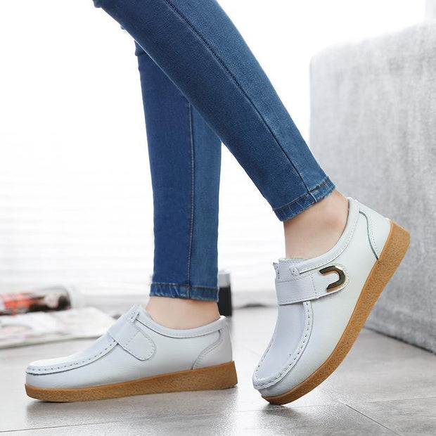 Women Warmful Winter Shoes Non-slip Durable Flat Shoes for Winter Plush Insole Hook Loop Shoes 117402