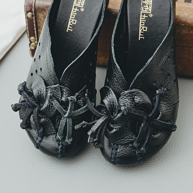 Women's Hollow out Soft Bottom Wear Resilient Flower Sandals Slippers