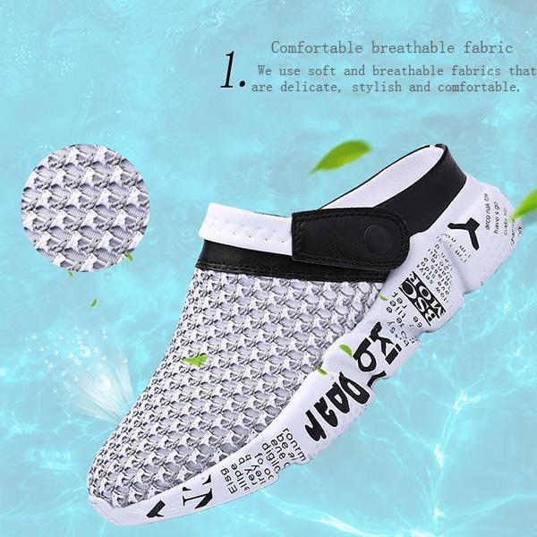 Men's hole shoes, beach shoes, half slippers,sandals 117347