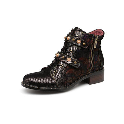 118080 LAURA VITA Retro  Genuine Leather Zipper Handmade Original Style Ankle Boots