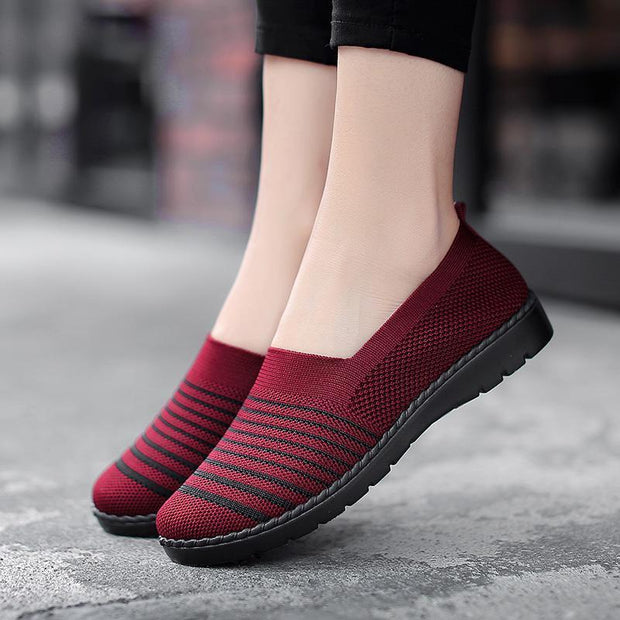 Women's Large Size Lightweight and Flexible Knitted Flats