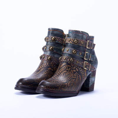 118561 LAURA VITA ANNA 12 Retro Genuine Leather Zipper Handmade Original Style Comfortable Ankle Boots