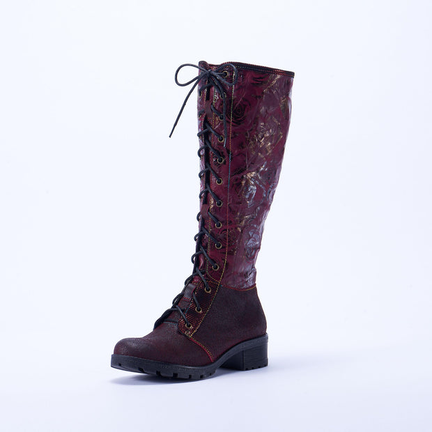 118573 LAURA VITA CORAIL 14 Retro Genuine Leather Zipper Lace Handmade Original Style Comfortable Boots