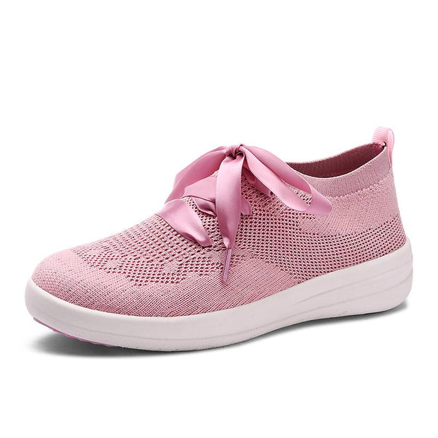 Women Shoes Women Breathable Mesh Sneakers Shoes Ballet Flats Ladies Slip on Loafers Shoes Plus Size
