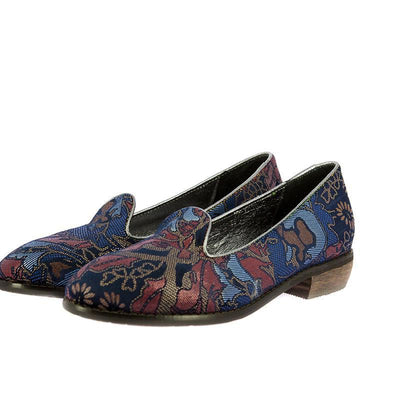 118450 LAURA VITA Women Retro Pattern Comfortable Low Heel Shoes