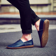Men Genuine Leather Stitching Loafers 118430