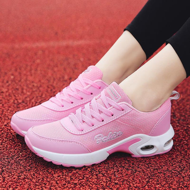 Women Spring comfortable mesh breathable sports wild air cushion casual running shoes 118484