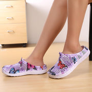 Women Garden Pattern Print Hole Sandals Slippers Casual Shoes