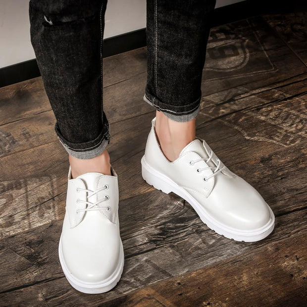 Women's Leather Lace-up Loafers