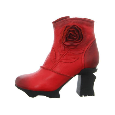 LAURA VITA ARMANCE Retro Genuine Leather Zipper Handmade Original Vintage Comfortable Ankle Boots