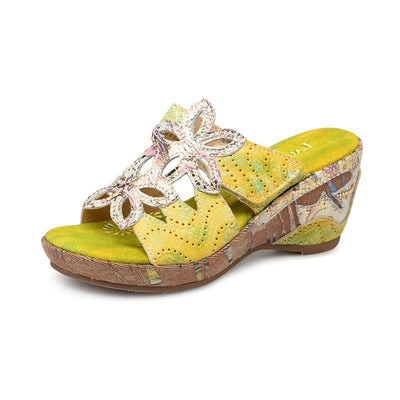 118883 LAURA VITA BEAUTE 16 Retro Genuine Leather PANTED LASER Handmade Original Comfortable SANDAL