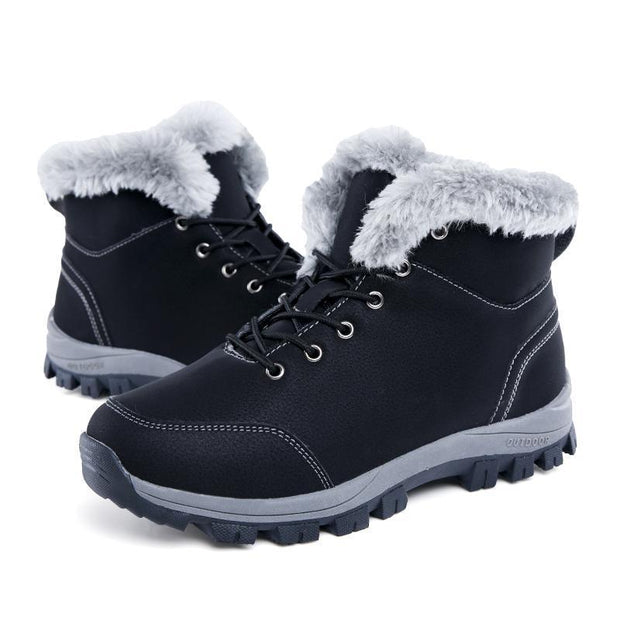 Winter Plus Velvet Warm Shoes Cotton Shoes Non-slip Lace Buckle Shoes Size 38-43 118477