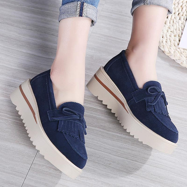 Women's British Preppy Thick-soled Platform Shoes