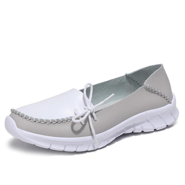 Women Soft Light Genuine Leather Comfy Breathable Loafers