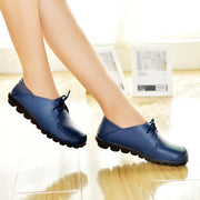 Women's Autumn&Winter Leather Casual Flat Shoes