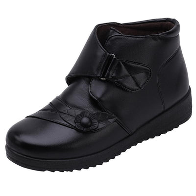 New winter PU uggs rubber Velcro sole for women's shoes 117543