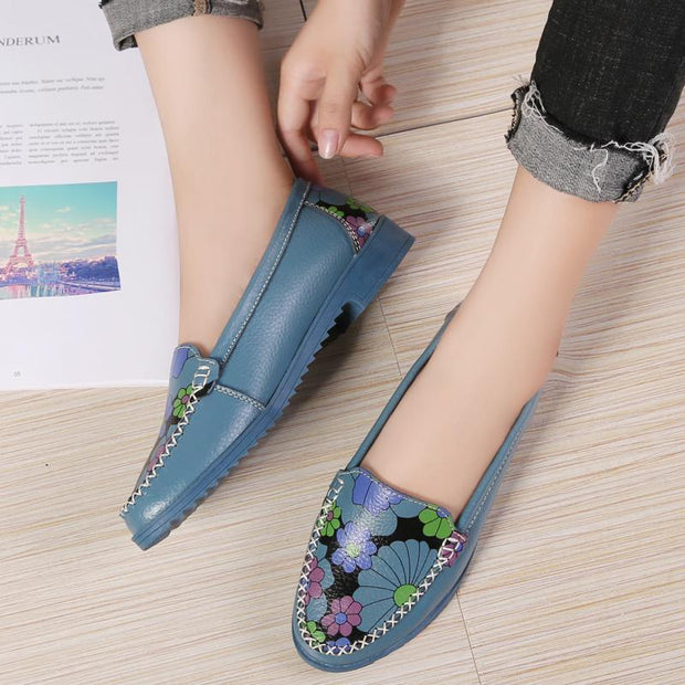 Female large size printed fashion casual shoes 118013