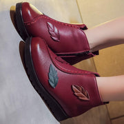 New women's winter flat shoes PU short tube cotton rubber fashion boots 117539