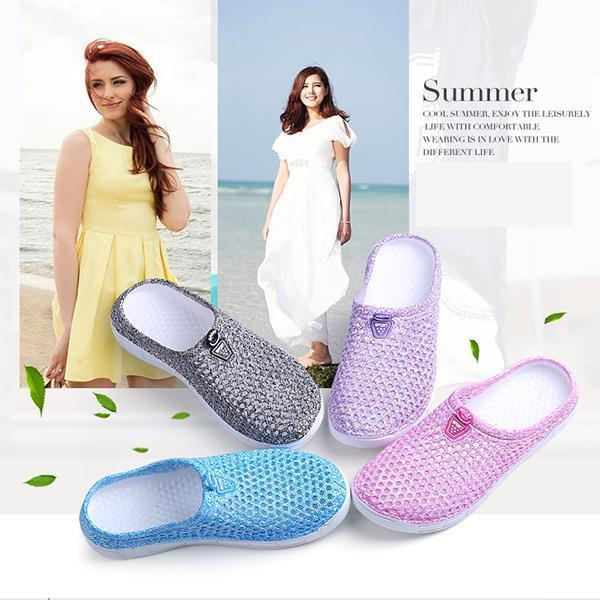 Ladies garden shoes, beach shoes, half slippers