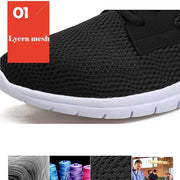 Men's Large Size Mesh Shoes Summer Breathable Shoes Running Shoes Size 38-47 118735