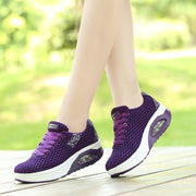 Women's New Fashion Summer Sports Shoes Comfortable And Breathable Ladies Air Cushion Rocking Shoes  119137