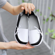 Women's Leather Shoes Fashion Peas Shoes Large Size Casual Women's Shoes  and Nurse Shoes 119229