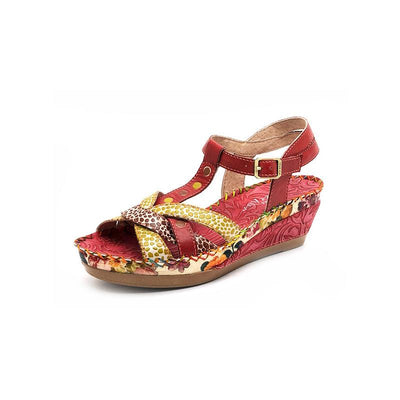 120020 LAURA VITA Beatrice 30 Retro Genuine Leather painted buckle Handmade Original Comfortable SANDAL