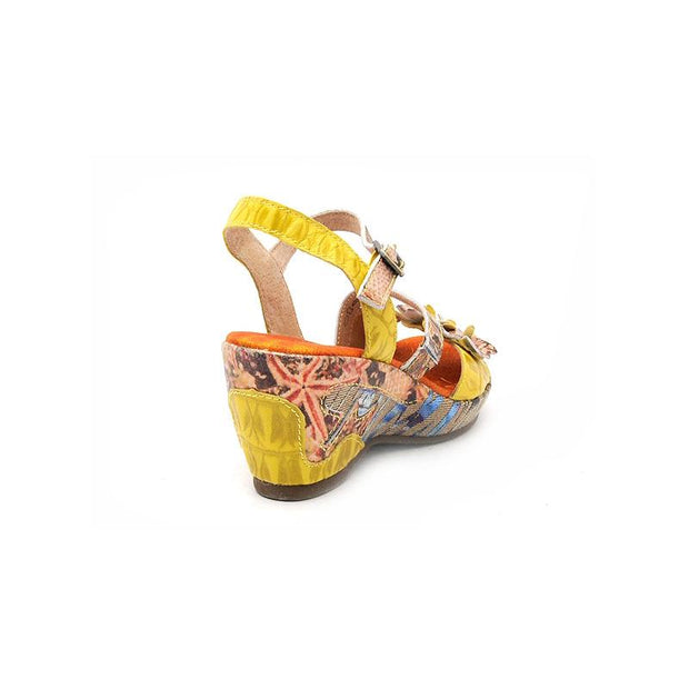 120028 LAURA VITA BEAUTE 118 Retro Genuine Leather painted BUCKLE Handmade Original Comfortable SANDAL