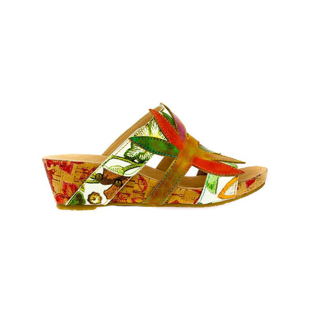 120033 LAURA VITA BELINDA 21 Retro Genuine Leather Handmade PAINTED VELCRO Original Comfortable SANDAL