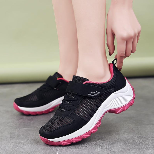 Women Breathable Platform Wedge Casual Sports Shoes