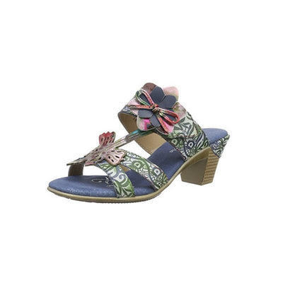 LAURA VITA BETTINO Retro Genuine Leather Handmade PAINTED VELCRO Original Comfortable SANDAL