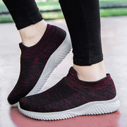 Women's New breathable safety running shoes flying woven women's sports