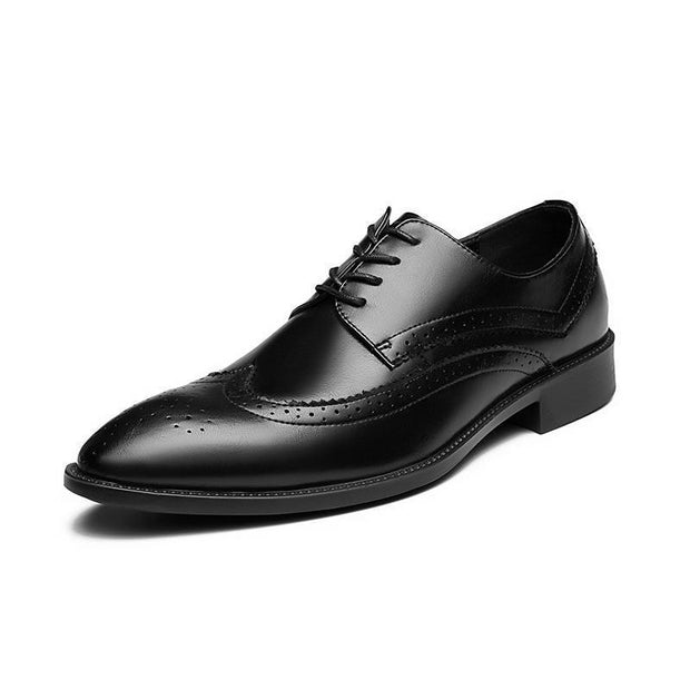Men's Cross-border Light-soled Lace-up Oxford Brogue Formal Loafers