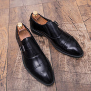 Men's Cross-frame Bucke Formal Mule Shoes